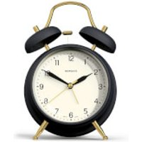 Newgate Brass Knocker Alarm Clock - Petrol Blue
