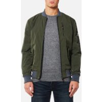 Superdry Mens Wax Flight Bomber Jacket - Khaki - L - Khaki