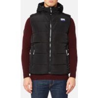 Superdry Mens Sports Puffer Gilet - Black/Black - M - BLACK/BLACK