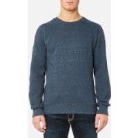 Superdry Men's Premium Goods Crew Sweatshirt - Twilight Blue Grit - L - Twilight Blue Grit
