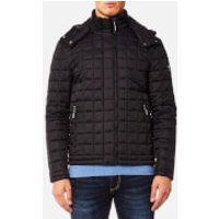 Superdry Men's Box Quilt Fuji Hooded Jacket - Black - M - Black