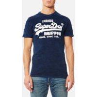 Superdry Mens Vintage Logo Indigo T-Shirt - Worn Indigo - M - Worn Indigo