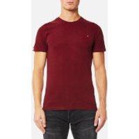 Superdry Mens Orange Label Vintage T-Shirt - Bright Berry Grit - S - Bright Berry Grit