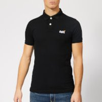 Superdry Men's Classic Pique Polo Shirt - Black - L