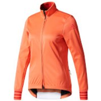 adidas Womens Adistar Long Sleeve Winter Jersey - Coral - L - Coral