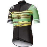 adidas Mens Adistar Jersey - Black/Green - L - Black/Green