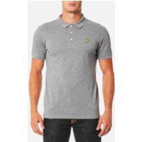 Lyle & Scott Mens Polo Shirt - Mid Grey Marl - XXL