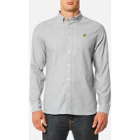 Lyle & Scott Men's Brushed Chambray Shirt - Mid Grey Marl - L - Grey