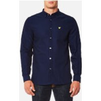 Lyle & Scott Mens Oxford Shirt - Navy - XXL