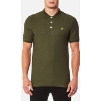 Lyle & Scott Mens Honeycomb Polo Shirt - Olive - S - Green