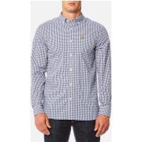 Lyle & Scott Mens Gingham Shirt - Navy - XL
