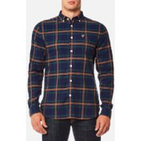 Lyle & Scott Mens Check Flannel Shirt - Navy - XXL - Navy