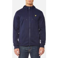Lyle & Scott Mens Tricot Hooded Jacket - Navy - S - Navy