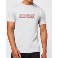 Nintendo SNES Mens Light Grey T-Shirt - XL - Light Grey