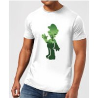 Nintendo Super Mario Luigi Silhouette Men's White T-Shirt - S - Light Grey