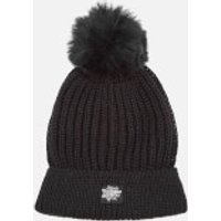 Superdry Womens Aries Sparkle Bobble Hat - Black