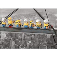 Despicable Me Minions Lunch on a Skyscraper 85 x 120cm Canvas Print - Despicable Me Gifts