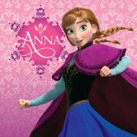 Disney Frozen Anna Pink 30 x 30cm Canvas Print