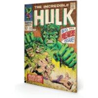 Marvel Hulk Big Issue 40 x 39cm Wood Print - Wood Gifts