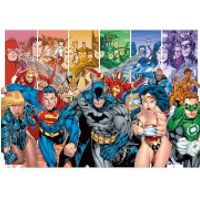 DC Comics Justice League America Generations 85 x 120cm Canvas Print - America Gifts