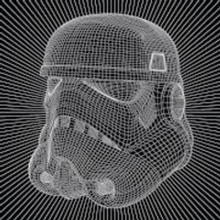 Star Wars Stormtrooper Wire 40 x 40cm Canvas Print - Stormtrooper Gifts
