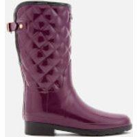 Hunter Women's Refined Gloss Quilt Short Wellies - Martian Red - UK 5 - Purple