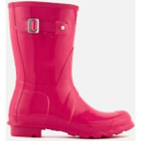 Hunter Women's Original Short Gloss Wellies - Bright Pink - UK 8 - Pink