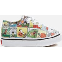 Vans X Peanuts Toddlers Authentic Trainers - Comics/Black/True White - UK 7 Toddler - Multi