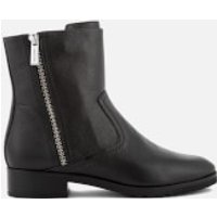 MICHAEL MICHAEL KORS Women's Andi Leather Biker Boots - Black - US 6/UK 3 - Black