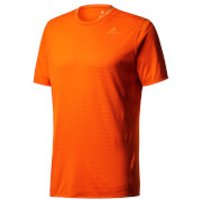 adidas Mens Supernova Running T-Shirt - Orange - M - Orange