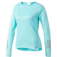 adidas Womens Response Long Sleeved Running Top - Blue - XS - Blue