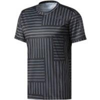 adidas Mens Response Running Printed T-Shirt - Black/White - M - Black/White
