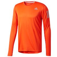 adidas Mens Response Long Sleeved Running Top - Orange - L - Orange