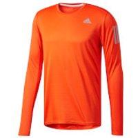 adidas Mens Response Long Sleeved Running Top - Orange - S - Orange