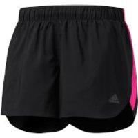 adidas Womens Response Running Shorts - Black/Pink - XS - Black/Pink