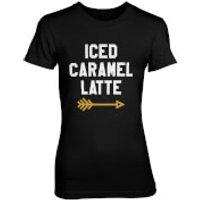Iced Caramel Latte Women's Black T-Shirt - XXL - Black - Caramel Gifts