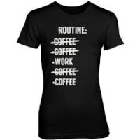 Routine Check List Womens Black T-Shirt - XXL - Black
