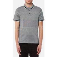 Michael Kors Men's Birdseye Feeder Short Sleeve Polo Shirt - Midnight - XL - Blue