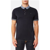 Michael Kors Men's Greenwich Logo Jacquard Short Sleeve Polo Shirt - Midnight - XXL - Blue