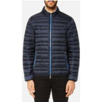 Michael Kors Mens Channel Quilted Jacket - Midnight - L - Blue