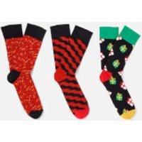 Happy Socks Mens Holiday Singing 3-Pack Socks Box - Multi - EU 41-46