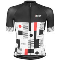 Ftech Urban Race Short Sleeve Jersey - L - Black/White/Red