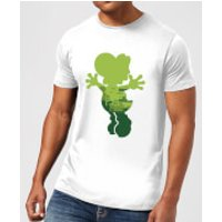 Nintendo Super Mario Yoshi Silhouette Men's White T-Shirt - XXL - White