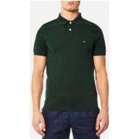 Tommy Hilfiger Mens Luxury Slim Fit Short Sleeve Polo Shirt - Scarab - XL - Green