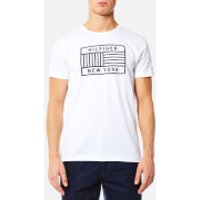Tommy Hilfiger Men's Norman Crew Neck Short Sleeve T-Shirt - Bright White - XL - Blue