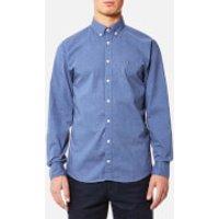 Tommy Hilfiger Mens Heather Long Sleeve Shirt - Maritime Blue Heather - S - Blue