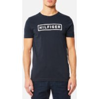 Tommy Hilfiger Mens Axel Crew Neck Short Sleeve T-Shirt - Sky Captain - S - Blue