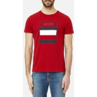 Tommy Hilfiger Men's Large Logo T-Shirt - Haute Red - XXL - Red