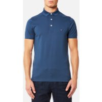 Tommy Hilfiger Mens Luxury Slim Fit Short Sleeve Polo Shirt - Sargasso Sea - XXL - Blue