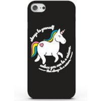 Always Be a Unicorn Phone Case for iPhone & Android - 4 Colours - iPhone 7 Plus - Black